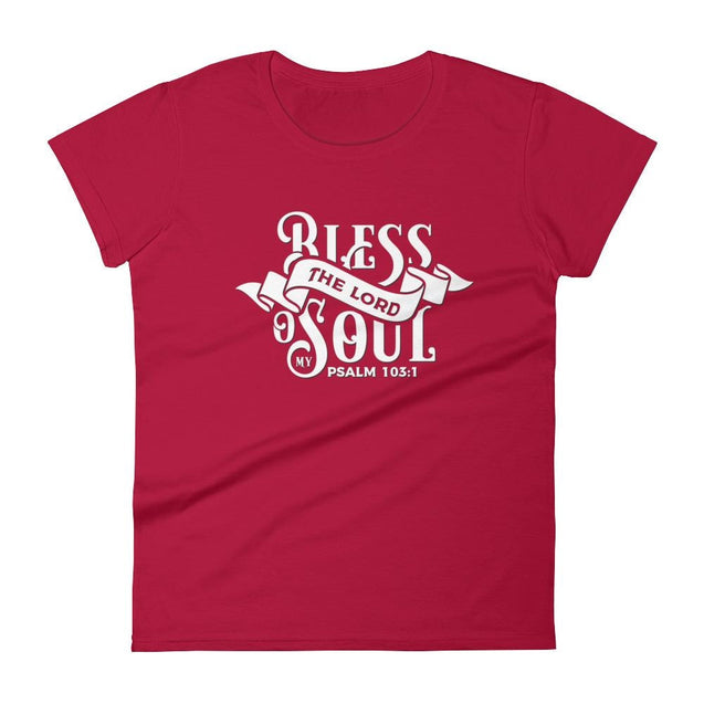 Womens Bless The Lord Christian T-Shirt - Red / S - T-Shirt