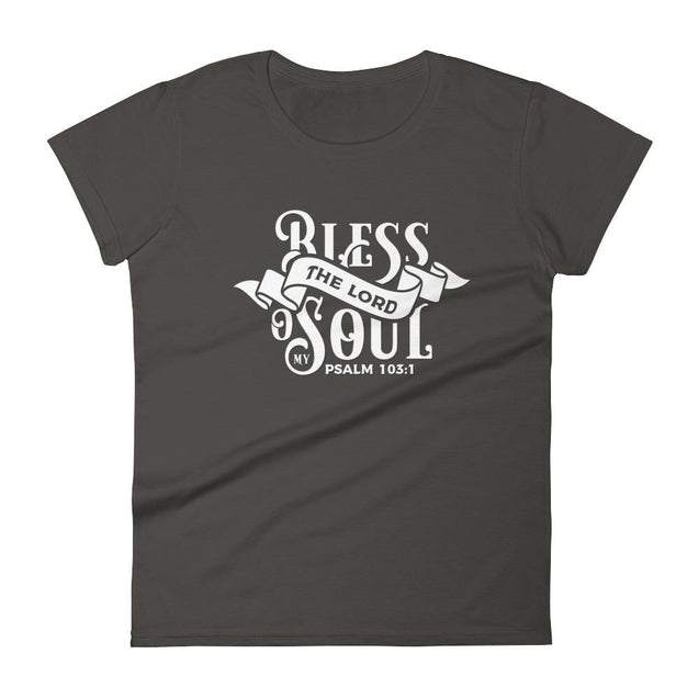 Womens Bless The Lord Christian T-Shirt - Smoke / S - T-Shirt