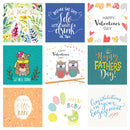 50 Assorted Greetings Cards Pack for All Occasions by Wonder Cards | Eco Friendly | Anniversary, Thank You, Congratulations, New Home, Birthday