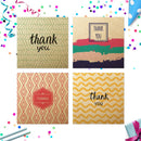 20 x Thank You Kraft Cards | Assorted Multi Bulk Pack | By Wonder Cards