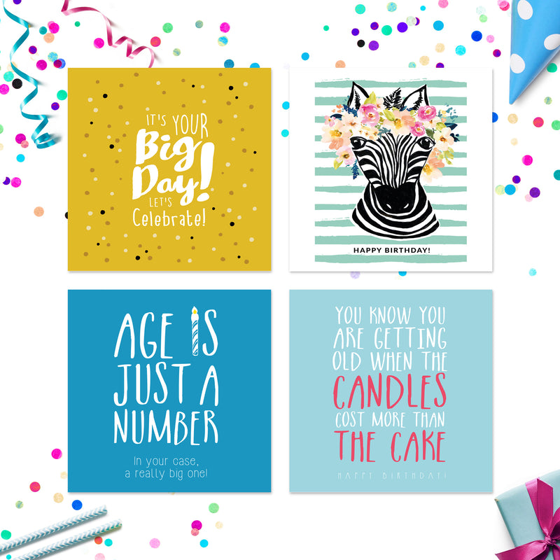 20 x Birthday Cards Vol 2 | Assorted Multipack | By Wonder Cards