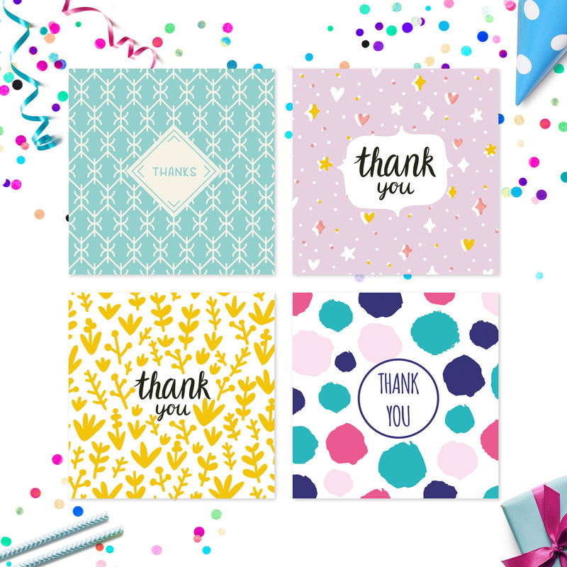 20 x Thank You Cards | Assorted Multi Bulk Pack | By Wonder Cards