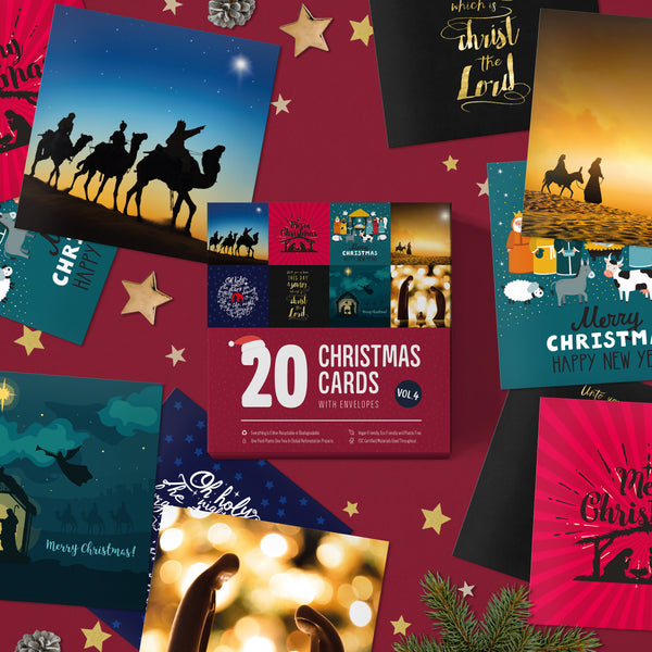Religious Christmas Cards Pack of 20 | Eco Friendly | Hand Packed in The UK | Christian Christmas Cards New for 2020