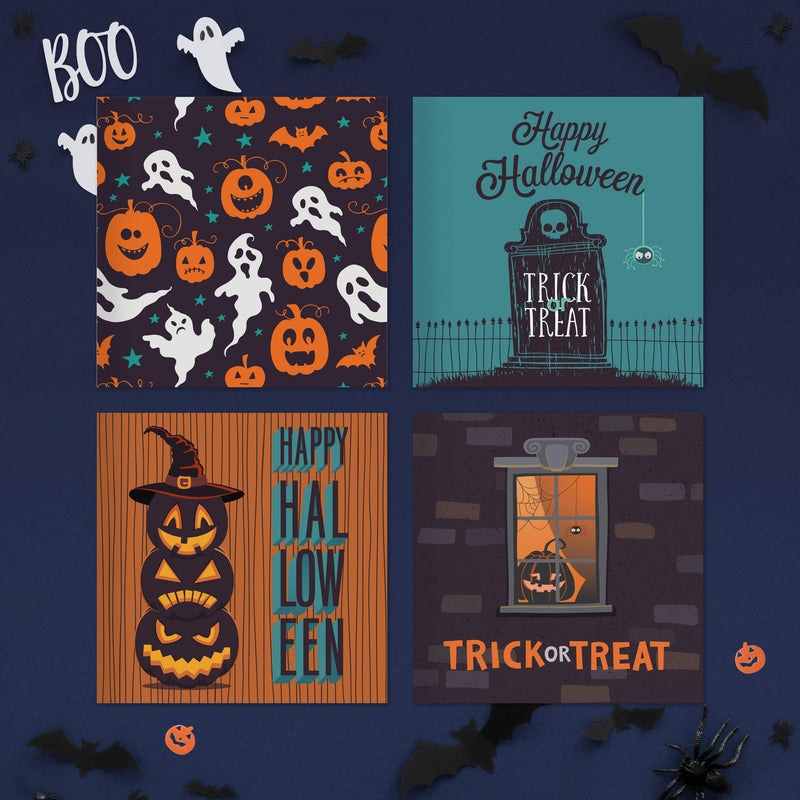 Halloween Cards Pack of 20 + Envelopes
