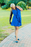 Kensie Blue Frilled Dress