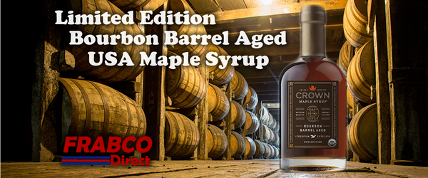 Crown Bourbon Barrel Aged Limited Edition Artisan Grade Maple Syrup Made in NY USA