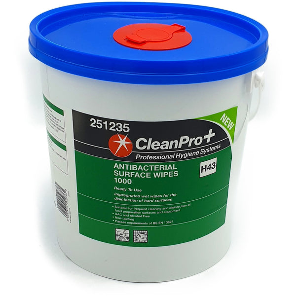 Antibacterial Surface Wipes Large Commercial Tub of 1000