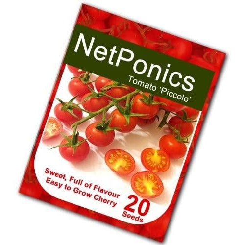 Netponics Piccolo Cherry Tomato 20 Seeds. Aromatic and Very flavourful Medium Cherry Tomato Grows on Long Vines.