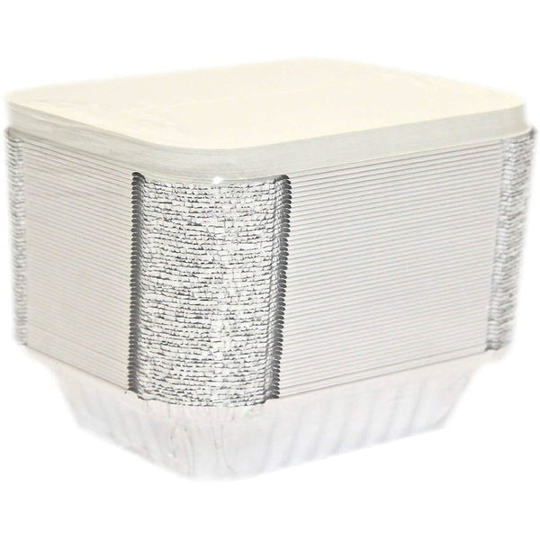 50 Aluminium foil food containers, Freezer safe (6A Size 197 x 105 x 49mm)
