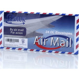 Classic style Air Mail/Par Avion Chevron edge DL size Gummed Letter Envelopes