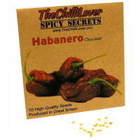 10 Hot Pepper Seeds Chocolate Habanero