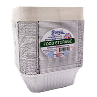 50 Aluminum Foil Food Containers, No 2 Size 142 x 116 x 41mm