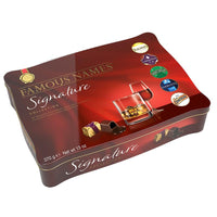 Famous Names Signature Collection Finest Dark Chocolate Liqueurs Gift Tin 370G