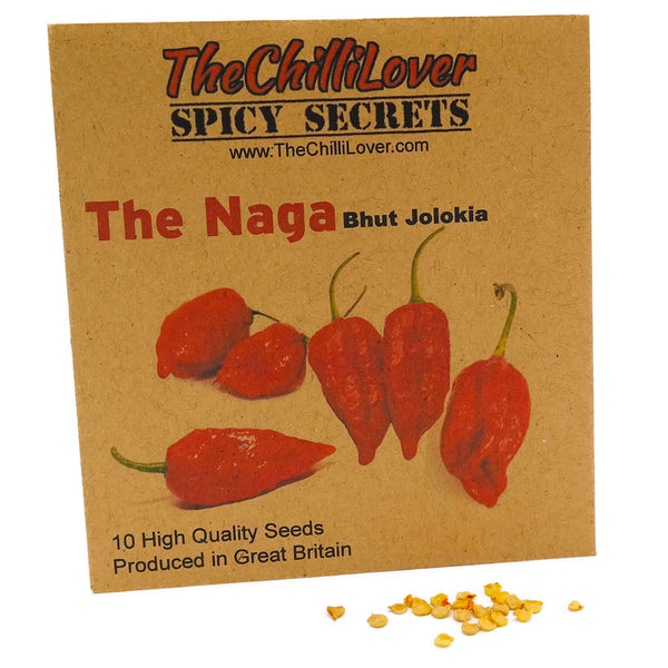 10 Hot Pepper Seeds The Naga (Ghoost) Jolokia