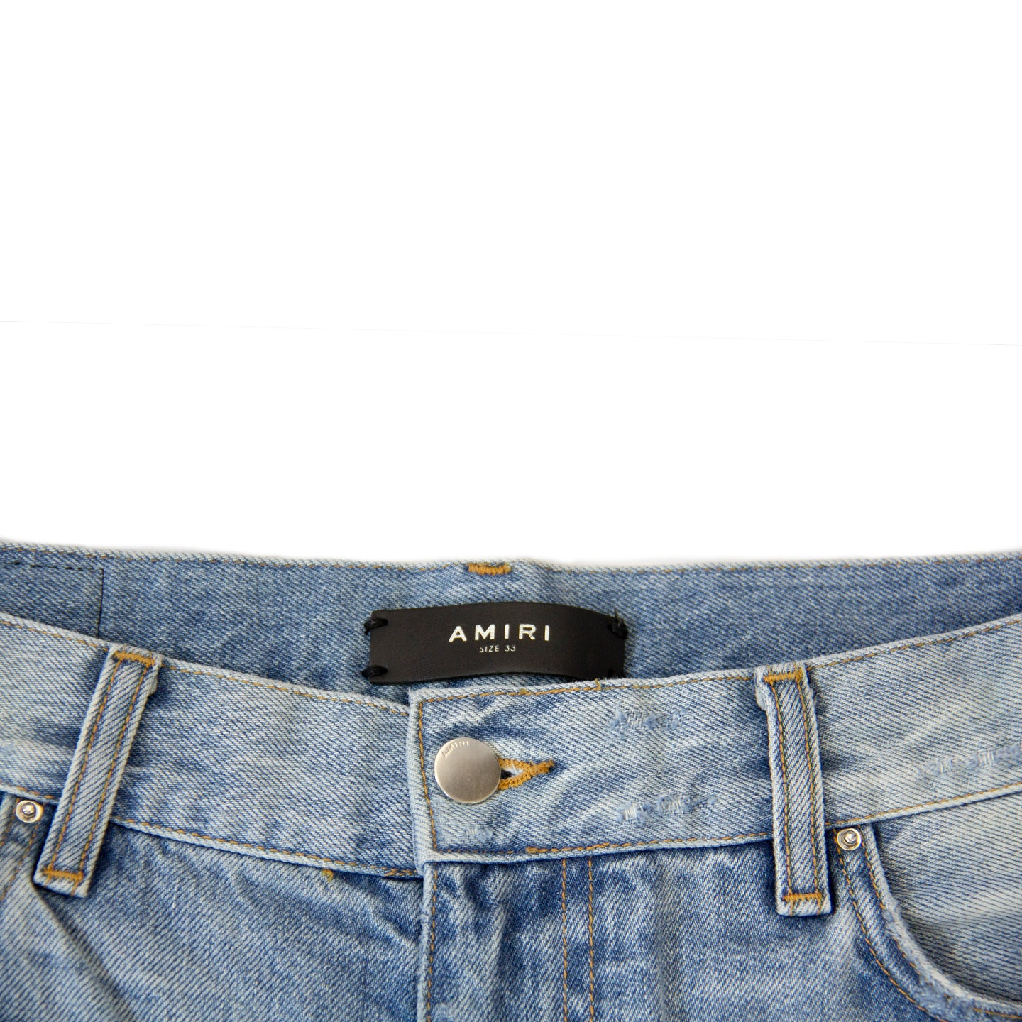 AMIRI DISTRESSED DENIM SHORT