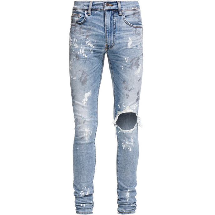 AMIRI ROSEBOWL ARTIST DISTRESSED DENIM