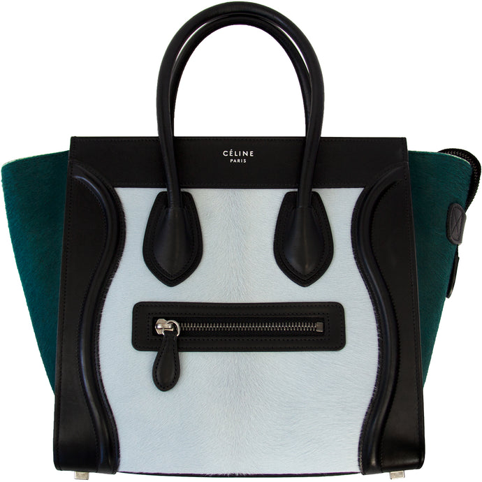 CÉLINE TRI-COLOR PONY HAIR LUGGAGE BAG