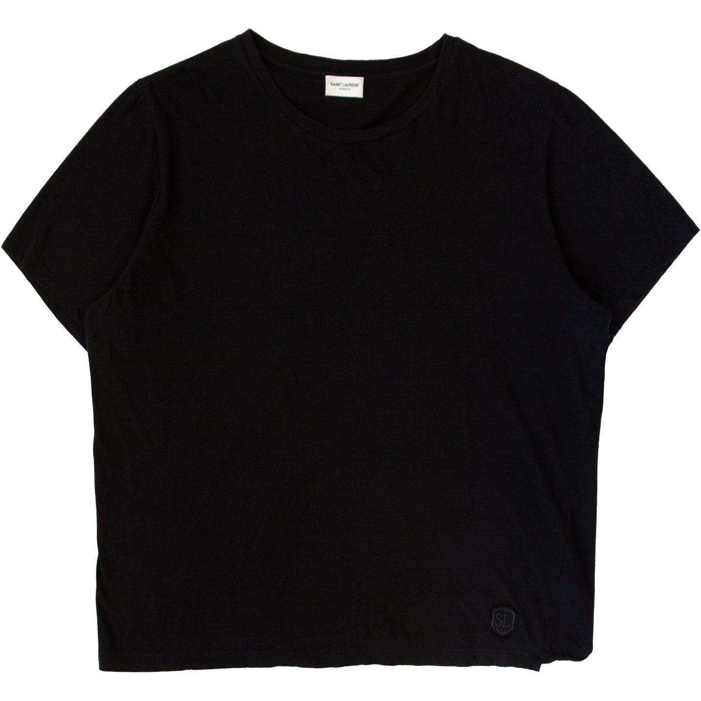 SAINT LAURENT EMBROIDERED LOGO TEE