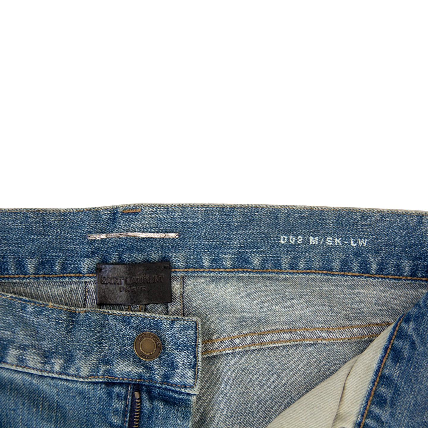 SAINT LAURENT DISTRESSED D02 DENIM