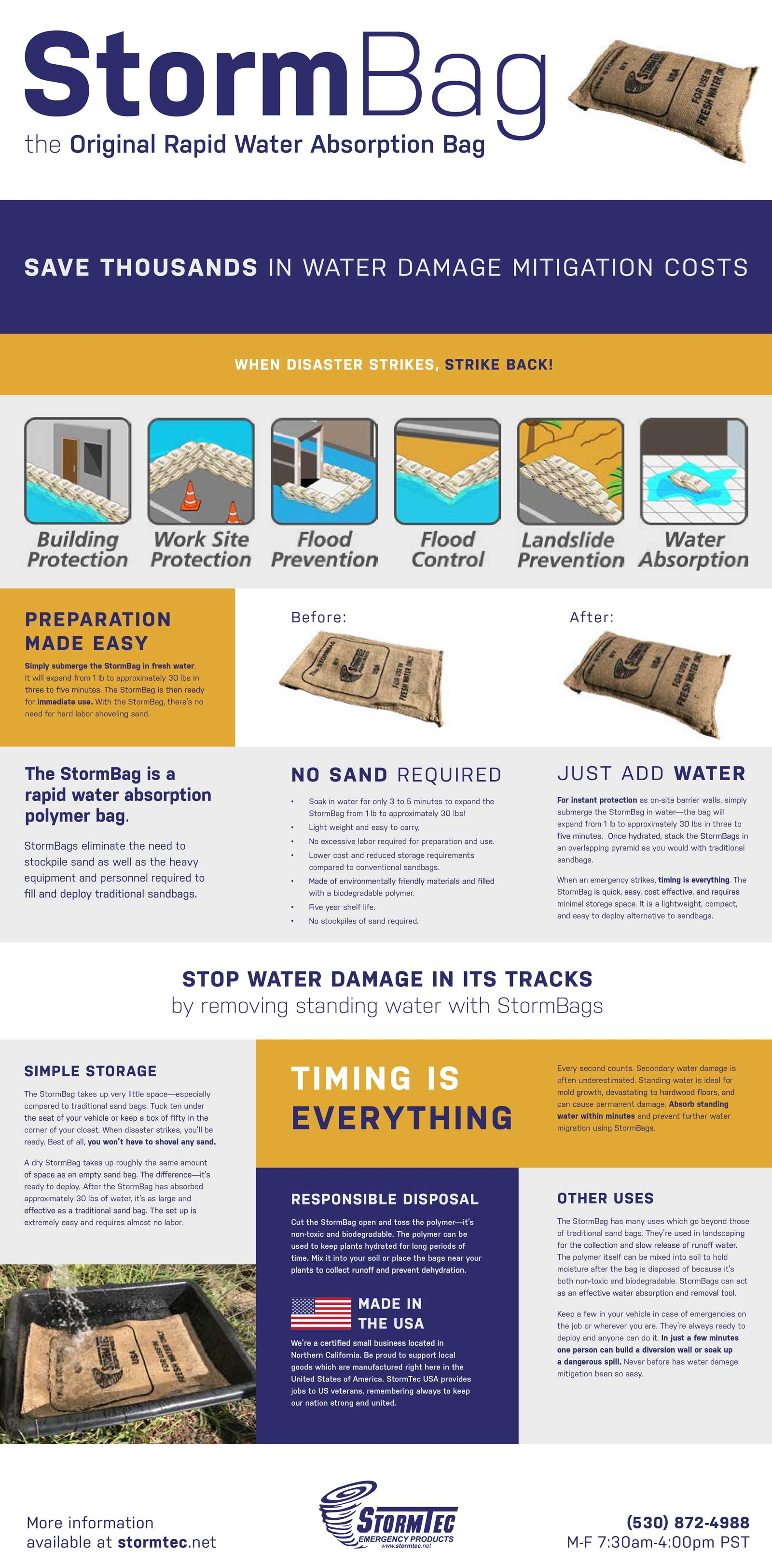 StormBags by StormTec Sandbag Alternative Flood Control