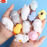 Mini Change Color Squishy Cute Cat Antistress Ball Squeeze Mochi Rising Abreact Soft Sticky Stress Relief Funny Gift Toy