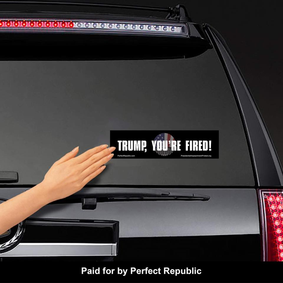 """TRUMP, YOU'RE FIRED!"" Bumper Sticker"