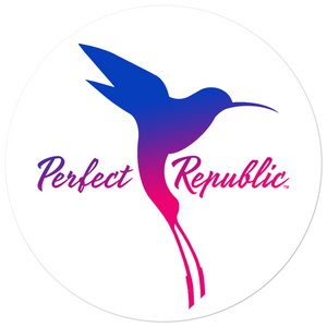 """Perfect Republic"" Bubble-free Vinyl Stickers"