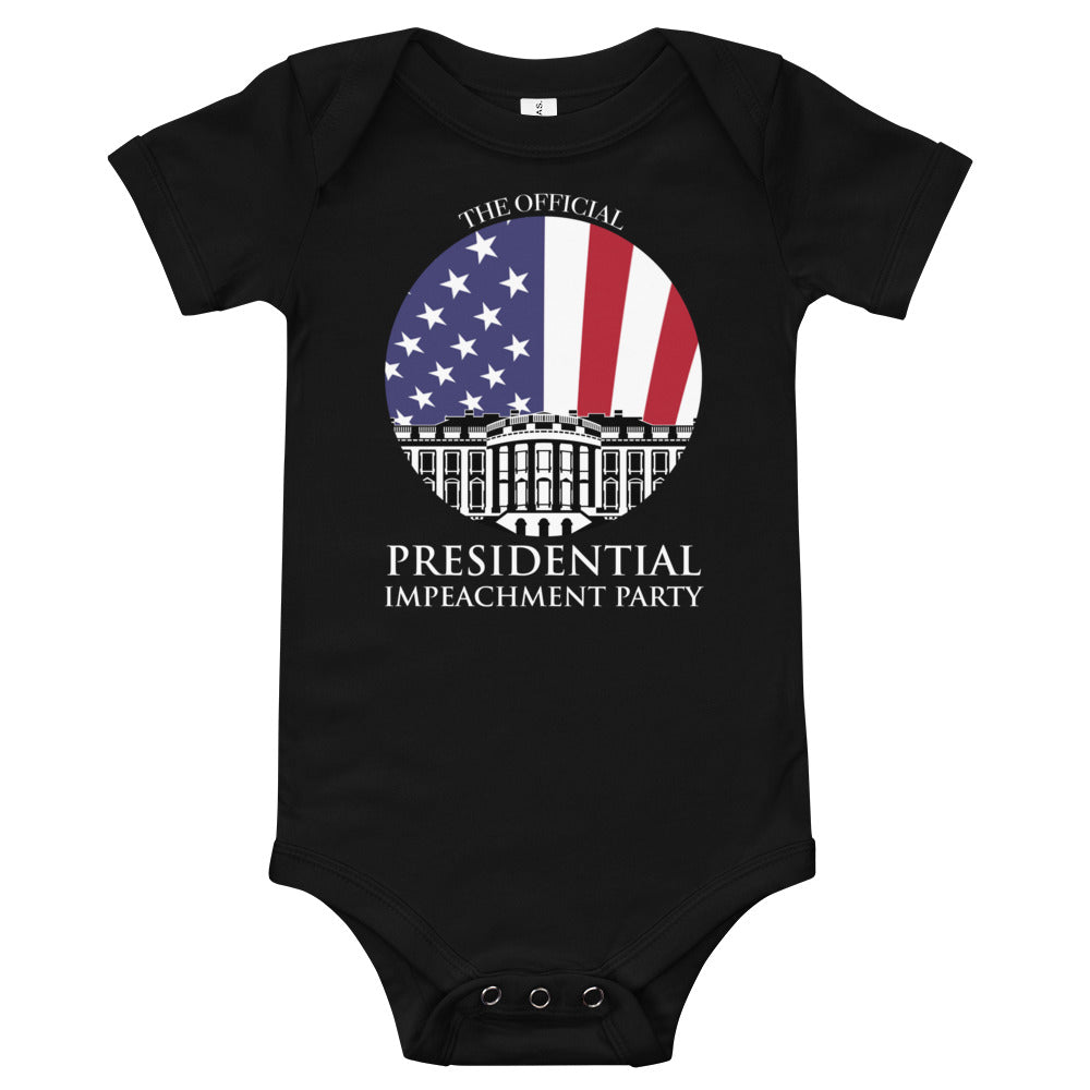 """The Official Presidential Impeachment Party"" Baby Bodysuit"