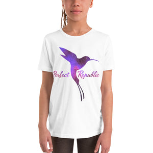 Perfect Republic's Space-Hummingbird Youth Short Sleeve T-Shirt