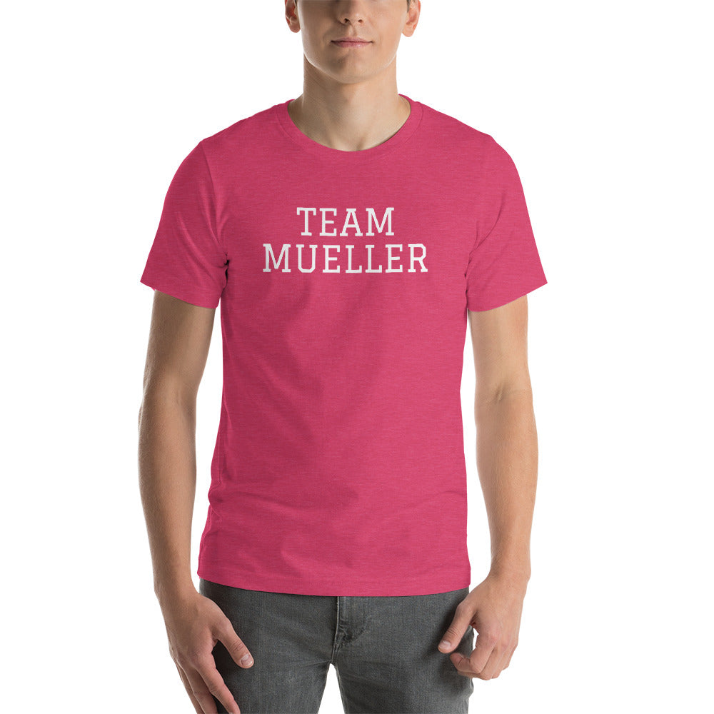 """Team Mueller"" Short-Sleeve Unisex T-Shirt"