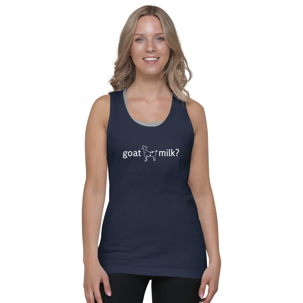 """goat milk?"" Classic tank top (unisex) by Goat Milk Revolution"