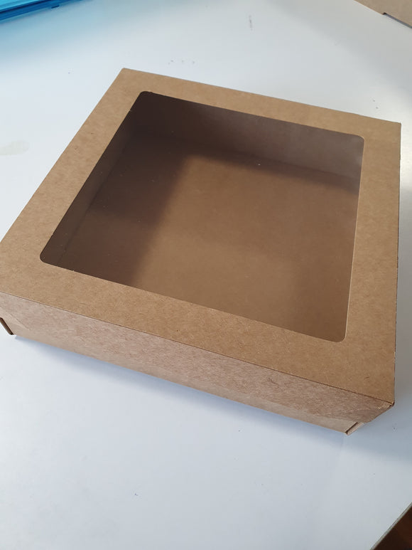 Brown Kraft Box Small with PET Presentation Window Lid
