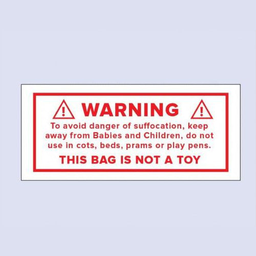 Adhesive Labels Warning this is not a toy.