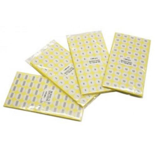 Adhesive Size Labels Pack of 500 pcs Mixed Sizes