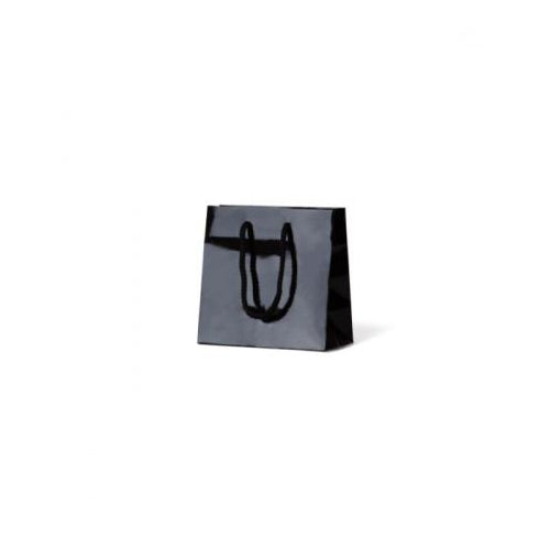Black Petite Gloss Paper Bag 165 mm x 165 mm (formally extra small )