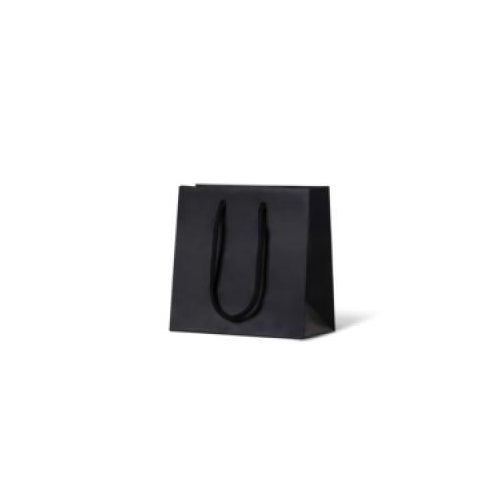 Black Petite Matte Laminated Paper Bag 165 mm x 165 mm (formally ex small )