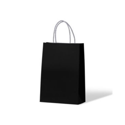 Black Junior Paper Carry Bags