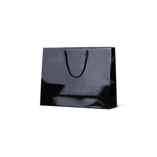 Black Large Galleria  Gloss Paper Bag 400 mm x 510 mm