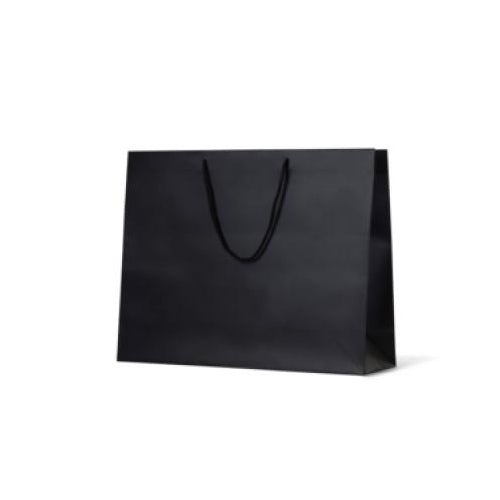 Black Large Galleria Matte Paper Bag 400 mm x 510 mm