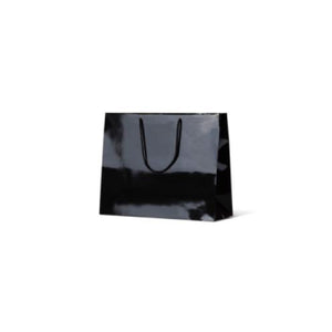 Black Medium Boutique Gloss Paper Bag 330 mm x 405 mm