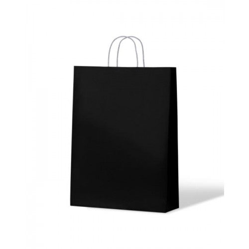 Black Midi Kraft Paper Carry Bags formally Medium