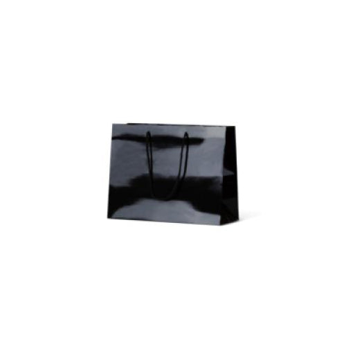 Black Small Boutique Gloss Paper Bag 250 mm x 330 mm