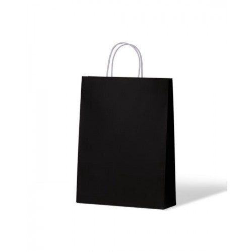 Black Small Kraft Paper Carry Bags 260mm x 350mm x 90 mm