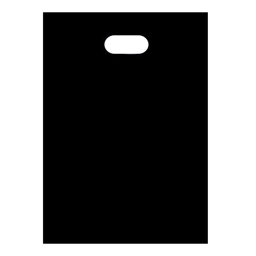 Black Small Plastic Bags Bottom Gusset 210mm x 270mm x 30mm