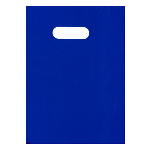 Blue Medium Die Cut Plastic Bags