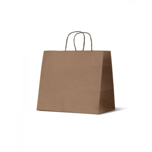 Takeaway Large Brown Kraft Wide Gusset Paper Carry Bags