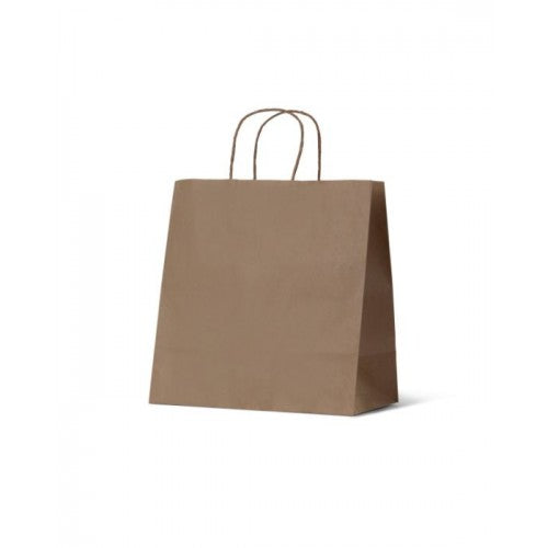 Brown Kraft Takeaway Small Paper Carry Bags