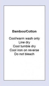 Care Labels Bamboo Cotton