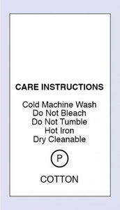 Care Labels Cotton Cold Machine Wash
