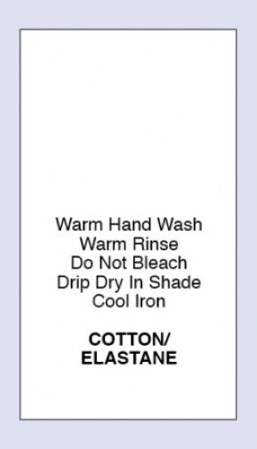Care Labels Cotton Elastane